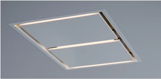 "ALUE43AWX Zephyr Arc Collection 43"" In-Ceiling Lux Island Hood with Wireless Remote - White"
