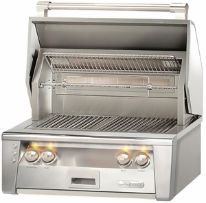 "ALXE30SZ Alfresco 30"" Built-In Outdoor Grill with SearZone - Natural Gas - Stainless Steel"