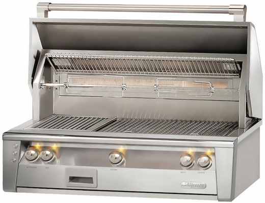 "ALXE42LP Alfresco 42"" Built-In Outdoor Grill - Liquid Propane - Stainless Steel"