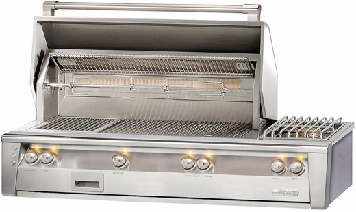"ALXE56LP Alfresco 56"" Built-In Outdoor Grill with Sideburner - Liquid Propane - Stainless Steel"