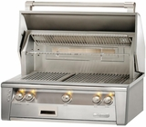 """ALXE36SZLP Alfresco 36"""" Built-In Outdoor Grill with SearZone - LP Gas - Stainless Steel"""