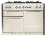 "AMC48DFIVY AGA 48"" Mercury Dual Fuel 3 Oven Range with 5 Sealed Burners and Storage Drawer - Ivory"