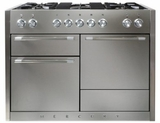 "AMC48DFSS AGA 48"" Mercury Dual Fuel 3 Oven Range with 5 Sealed Burners and Storage Drawer - Stainless Steel"