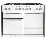 "AMC48DFWHT AGA 48"" Mercury Dual Fuel 3 Oven Range with 5 Sealed Burners and Storage Drawer - White"