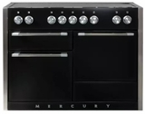 "AMC48INBLK AGA 48"" Mercury Induction 3 Oven Range with 5 Burners and True European Convection - Gloss Black"