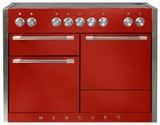 "AMC48INSCR AGA 48"" Mercury Induction 3 Oven Range with 5 Burners and True European Convection - Scarlet"