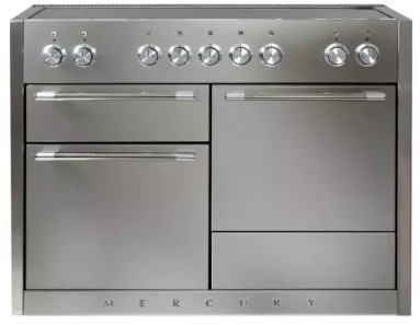 """AMC48INSS AGA 48"""" Mercury Induction 3 Oven Range with 5 Burners and True European Convection - Stainless Steel"""