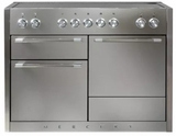 "AMC48INSS AGA 48"" Mercury Induction 3 Oven Range with 5 Burners and True European Convection - Stainless Steel"