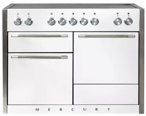 "AMC48INWHT AGA 48"" Mercury Induction 3 Oven Range with 5 Burners and True European Convection - White"
