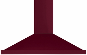 "AMCHD36CRN AGA 36"" Wall Mount Vent Range Hood with Halogen Lighting and Adjustable Duct Covers - 600 CFM - Cranberry"
