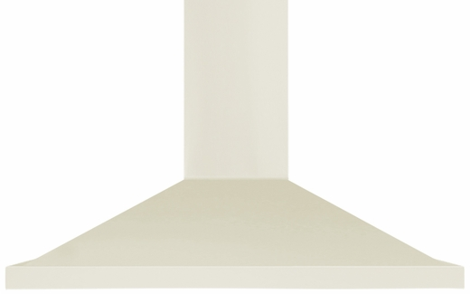 "AMCHD36IVY AGA 36"" Wall Mount Vent Range Hood with Halogen Lighting and Adjustable Duct Covers - 600 CFM - Ivory"