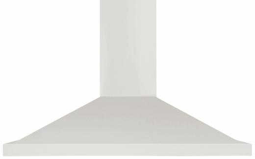 "AMCHD36WHT AGA 36"" Wall Mount Vent Range Hood with Halogen Lighting and Adjustable Duct Covers - 600 CFM - White"