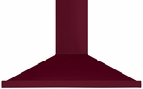 "AMCHD44CRN AGA 44"" Wall Mount Vent Hood with Halogen Lighting and Adjustable Duct Covers - 600 CFM - Cranberry"