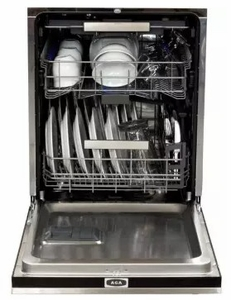 "AMCTTDWBLK AGA 24"" Mercury Fully Integrated Tall Tub Dishwasher with Smartsoil Sensor and Wave-Touch Controls - Gloss Black"