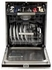 """AMCTTDWBLK AGA 24"""" Mercury Fully Integrated Tall Tub Dishwasher with Smartsoil Sensor and Wave-Touch Controls - Gloss Black"""