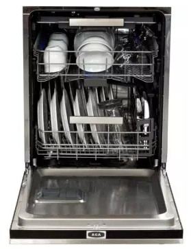 """AMCTTDWWHT AGA 24"""" Mercury Fully Integrated Tall Tub Dishwasher with Smartsoil Sensor and Wave-Touch Controls - White"""
