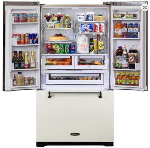 AMLFDR23VWT Aga Legacy 36 Inch French Door Counter Depth Refrigerator with Customized Temperature Controls - Vintage White