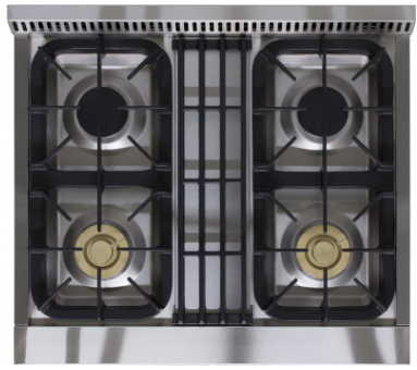 """APRO30AGSS AGA 30"""" Freestanding Gas Range with True Dual Flame and Easy Clean - Natural Gas - Stainless Steel"""