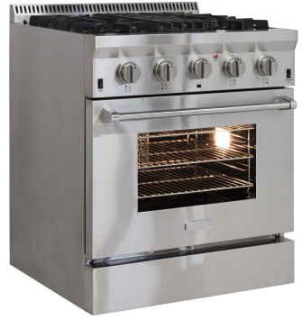 "APRO30DFSS AGA 30"" Freestanding Dual Fuel Range with Cool Flow Range Top and RapidBake Convection - Natural Gas - Stainless Steel"