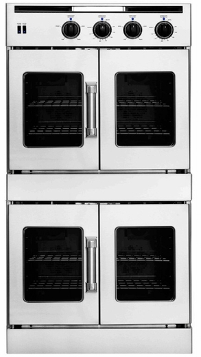 "AROFFE-230 American Range 30"" Legacy Double French Door Electric Wall Oven with Innovection Convection and Porcelainized Interior  - Stainless Steel"