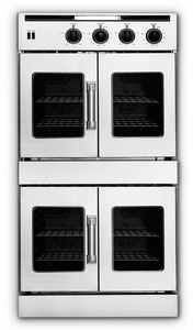 """AROFFG-230N American Range 30"""" Legacy Double French Door Gas Wall Oven with Innovection Convection and Porcelainized Interior - Stainless Steel - Natural Gas - Stainless Steel"""