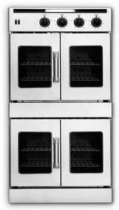 AROFFHGE-230N American Range Legacy Hybrid Double Wall Oven with Gas French Door Top & Electric French Door Bottom with Innovection Convection and Porcelainized Interior - Natural Gas - Stainless Steel