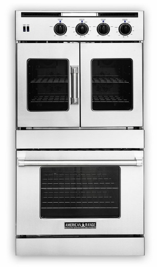 """AROFSG-230N American Range 30"""" Legacy French Door Top / Chef Door Bottom Gas Double Wall Oven with Innovection Convection and Porcelainized Interior - Natural Gas - Stainless Steel"""
