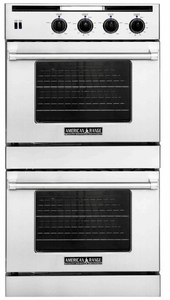 "AROSSE-230 American Range 30"" Legacy Double Chef Door Electric Wall Oven with Innovection Convection and Porcelainized Interior - Stainless Steel"
