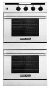 AROSSHGE-230N American Range Legacy Hybrid Double Wall Oven with Gas Oven Chef Door on Top & Electric Chef Door Bottom Innovection Convection and Porcelainized Interior - Natural Gas - Stainless Steel