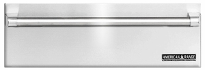 "ARR-27WD American Range 27"" Villa Professional Warming Drawer with Classic Handle - Stainless Steel"