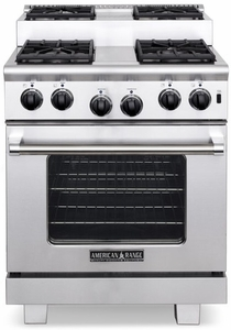 """ARR-304ISN American Range Titan 30"""" All Gas Range with 4 Sealed Step-Up Burners & Oven - Natural Gas - Stainless Steel"""