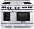 """ARR-4842GDDFN American Range Medallion 48"""" Dual Fuel Range with 4 Sealed Gas Burners, Griddle, Gas Oven & Electric Oven - Natural Gas - Stainless Steel"""