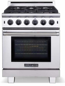"ARR-530N American Range Cuisine 30"" All Gas Range with Sealed Gas Burners & Innovection Convection Oven - Natural Gas - Stainless Steel"