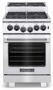 """ARR-244ISN American Range Titan 24"""" All Gas Range with 4 Sealed Step-Up Burners & Oven - Natural Gas - Stainless Steel"""