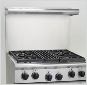 """ARR3021HBSC American Range 20"""" High Backguard with Shelf for 30"""" Ranges - Stainless Steel"""