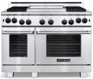 """ARR-4842GDN American Range  48"""" Heritage Classic All Gas Range with Sealed Gas Burners, Griddle & Innovection Convecton Oven - Natural Gas - Stainless Steel"""