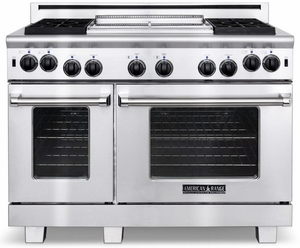 """ARROB-648GDN American Range Performer 48"""" All Gas Range with 6 Open Burners, Griddle & Innovection Convection Oven - Natural Gas - Stainless Steel"""