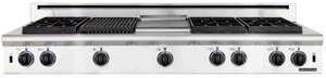"ARSCT-6062GDN American Range Legend 60"" Cooktop with 6 Sealed Burners & Wide Griddle - Natural Gas - Stainless Steel"