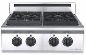 """ARSCT-242GDN American Range Legend 24"""" Cooktop with Wide Griddle and Analog Controls - Natural Gas - Stainless Steel"""