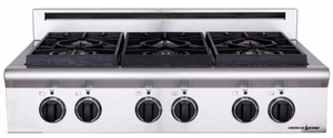"ARSCT-364GRN American Range Legend 36"" Cooktop with 4 Sealed Burners & Wide Grill - Natural Gas - Stainless Steel"