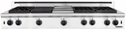 "ARSCT-606GDGRN American Range Legend 60"" Cooktop with 6 Sealed Burners, Griddle & Grill - Natural Gas - Stainless Steel"