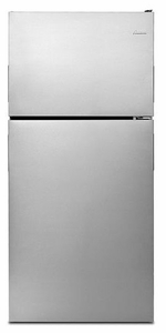 ART308FFDM Amana 18 cu. ft. Top-Freezer Refrigerator with Electronic Temperature Controls - Monochromatic Stainless Steel