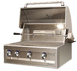 "ARTP32NG Artisan 32"" Professional Series Natural Gas Grill with 3 Stainless Steel U-Burners and Push Button Ignition - Stainless Steel"