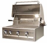 """ARTP32NG Artisan 32"""" Professional Series Natural Gas Grill with 3 Stainless Steel U-Burners and Push Button Ignition - Stainless Steel"""