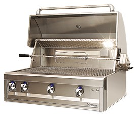 "ARTP36NG Artisan 36"" Professional Series Natural Gas Grill with 3 Stainless Steel U-Burners and Push Button Ignition - Stainless Steel"