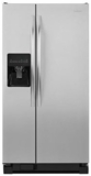 """ASD2275BRS Amana 36"""" 22.0 cu. ft.  Side by Side Refrigerator with  Versatile Storage Options and Temp Assure Freshness Controls  - Stainless Steel"""