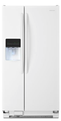 "ASD2275BRW Amana 36"" 22.0 cu. ft.  Side by Side Refrigerator with  Versatile Storage Options and Temp Assure Freshness Controls  - White"