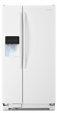 """ASD2275BRW Amana 36"""" 22.0 cu. ft.  Side by Side Refrigerator with  Versatile Storage Options and Temp Assure Freshness Controls  - White"""