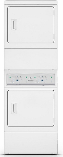 ASGE8AGW113TW01 Speed Queen Stacked Gas Dryer/Dryer with 7 Cu. Ft. Each - White