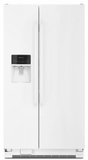 "ASI2575FRW Amana 36"" 24.0 cu. ft.  Side by Side Refrigerator with Dispenser Control Lockout and Flexible Door Storage  - White"